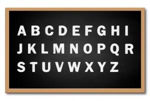 punctuation--alphabet blackboard