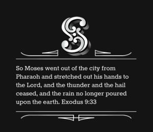 Exodus 9:33
